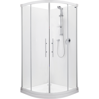 Valencia Round Sliding Shower 1000x1000mm