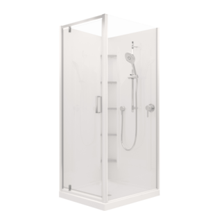 Valencia Elite Corner Pivot Shower (900x750mm) - Order Only
