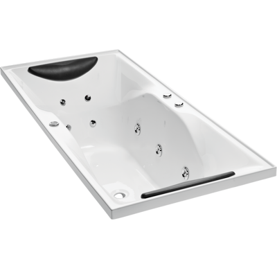 Studio II Rectangular Spa Bath (1800 x 760mm), Symmetrical