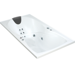 Evora Hydrotherapy Massage Rectangular Spa Bath