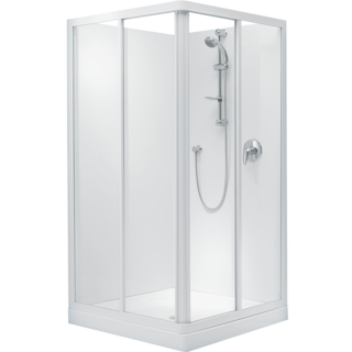 Sapphire Square Corner Sliding Shower 900 x 900mm
